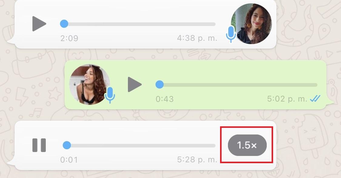 Velocidad Audio Whatsapp