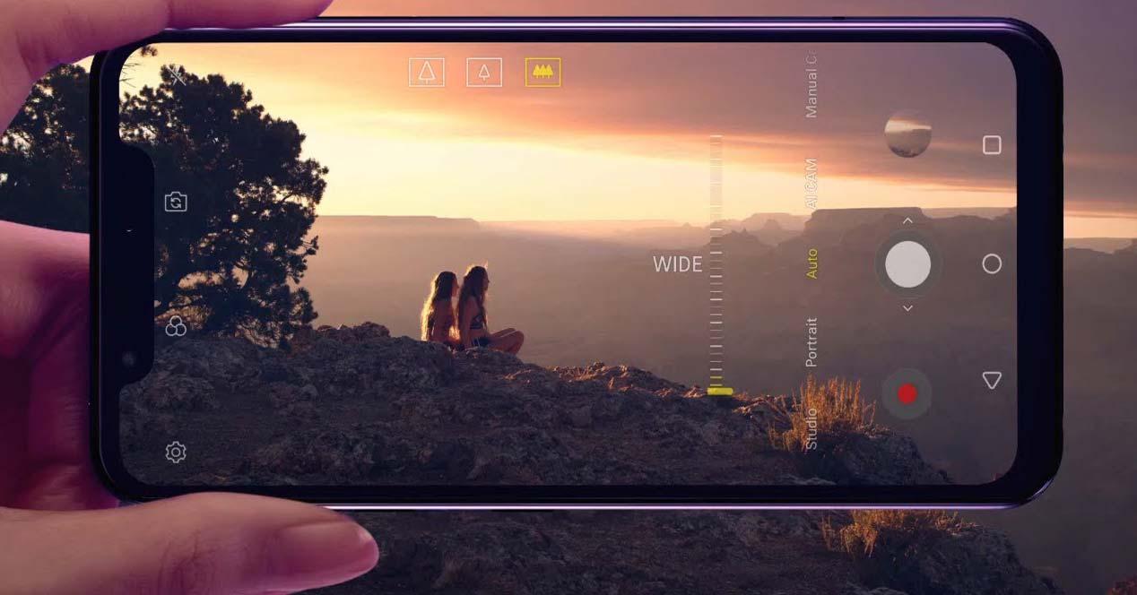 Pantalla táctil de un smartphone