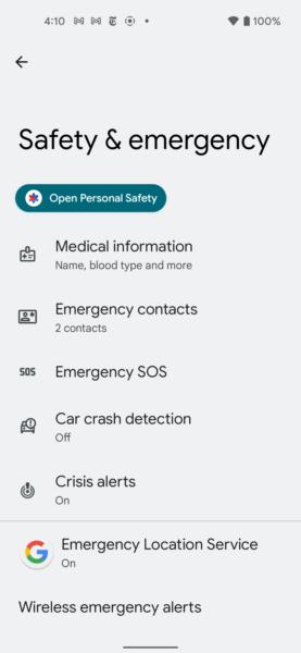 Emrgencias Android 12
