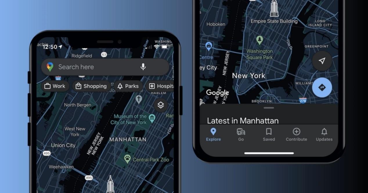 Google Maps Modo Oscuro Para Iphone