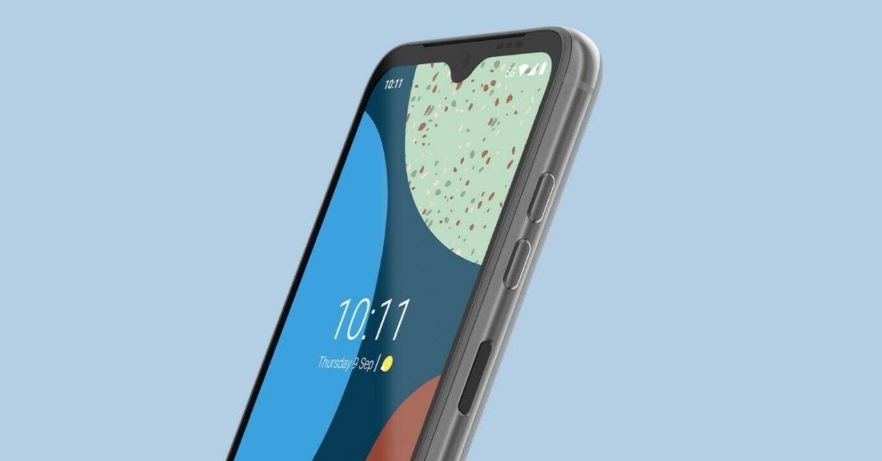 Fairphone 4 Fondo Azul